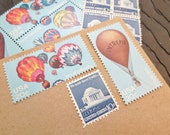 Ballooning .. UNused Vintage Postage Stamps  .. post 5 letters