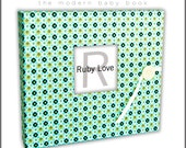 Geometric Baby Book   Ruby Love Modern Baby Memory Book