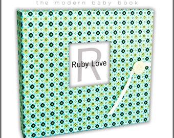 Geometric Baby Book | Ruby Love Modern Baby Memory Book