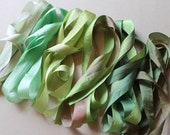 Foliage Mix - 6 metres of 13mm silk ribbon