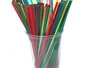 25 Assorted Rainbow Triangle Swizzle Sticks and and PDF Printable Party Flags