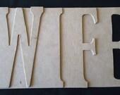 LOVE chipboard word album bare
