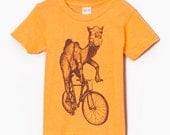Camel on a Bicycle - Kids T-Shirt - American Apparel