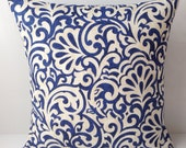 Indigo Blue Pillow Cover Decorative Throw Pillow Accent Cushion Toss Pillow