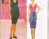 Vogue 2441 Yves St Laurent Paris Original Sewing Pattern 2441 Misses Dress and Sash 14-16-18 New and Uncut