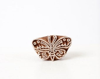 Wood Stamp Butterfly 297d