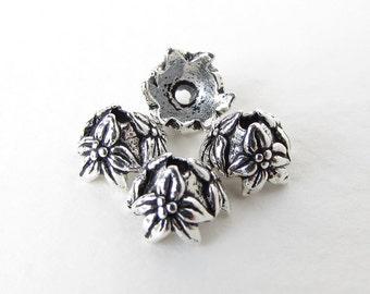 TierraCast Antiqued Silver Ox Bead Cap Flower Jasmine 7mm bcp0048 (4)