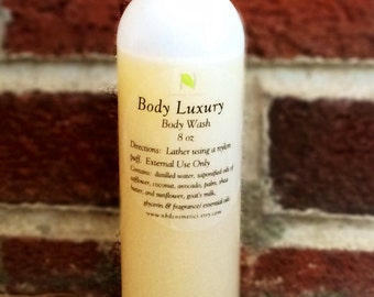 Body Luxury Goat's Milk  and Shea Butter All Natural Body Wash