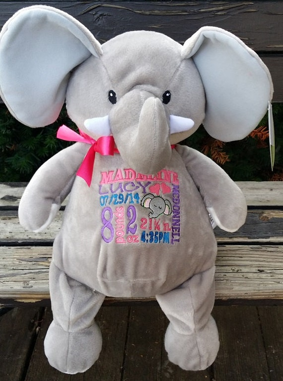 Personalized baby gift personalized plush stuffed plush like this item negle Images