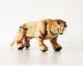 Roaaar - Vintage Marx Wind Up Leopard - Animal - Collectible - Toy - Christmas Gift - Orange - Wild - Kids - Home Decor