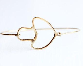 Gold Mushroom Bracelet
