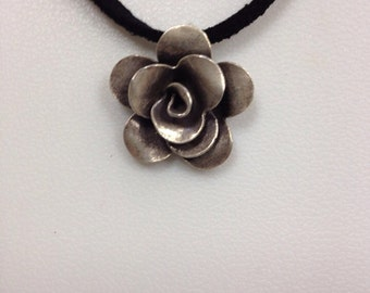Pure flower silver necklace
