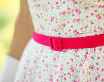 custom made belt with matching fabric covered buckle in many colors, handmade belt, custom made belt, pink belt, 1 inch wide