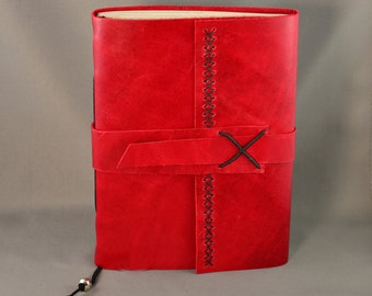 Handmade Leather Journal with Parchment Paper