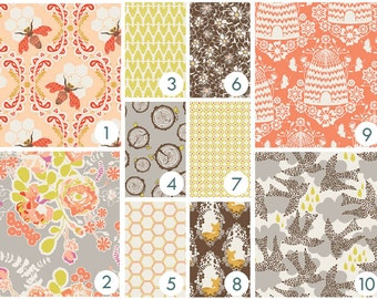 Baby Bedding - Sweet Honey Bee Custom Crib Bedding - Coral, Peach, Yellow, Brown