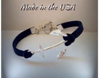 Anchor Nautical bracelet, Charm bracelet, Friendship bracelet, dainty anchor bracelet, silver anchor charm, friendship gift, gift for her