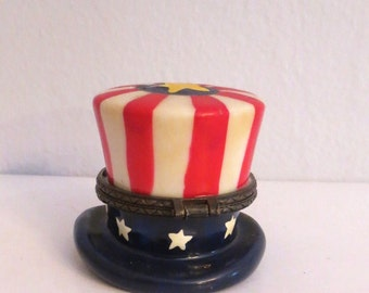 Hinged Box- Uncle Sams Hat