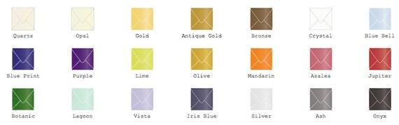 2 3/4 x 2 3/4 Square (mini square) Metallic Envelopes 25/Pk