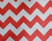 Riley Blake Medium Chevrons Coral