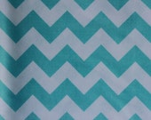 Riley Blake Medium Chevrons Aqua