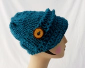 Peacock Button Brim Hat