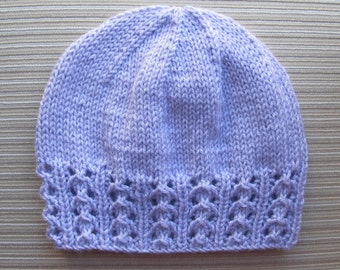 "Knitting Pattern #158 Hat ""Zhanna""  with a Lace Border for a Lady"