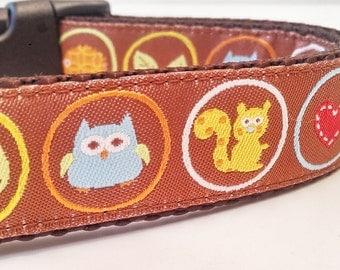 Outdoor Lover - Dog Collar / Handmade / Pet Accessories / Adjustable / Squirrel