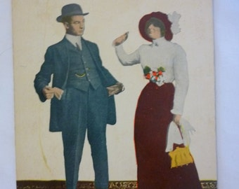 Vintage Early 1900s Postcard, Humorous, Dont come around when your broke