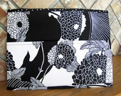Black and White Floral Tract and Magazine Holder, Organizer, Tablet Sleeve