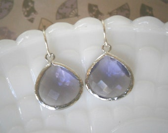 Amethyst Earrings, Purple Earrings, Silver Earrings,