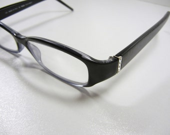 fendi eyewear 5e6p  Authentic FENDI Eyeglasses / Black / Made in Italy / No case / Rhinestone  accents / Eyewear / glasses / FENDI frames / Designer / SALE