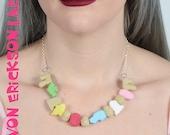 Creepy Crunch Cereal Necklace - Creepy Cute -  Gothic Spooky Lolita