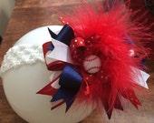 Over the top baseball bow or headband