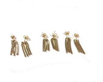 Box Chain Fringe Earrings