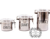 Kitchen Canister Labels Set of 12-Vinyl Decals