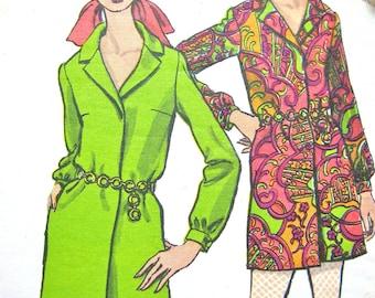 Vintage Vogue 7293  1970s Shirtwaist Dress and Pants Pattern 70s mini dress  Bust  34