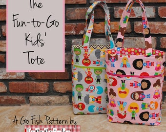 The Fun-to-Go Kids' Tote (Instant Download) The Go Fish Series