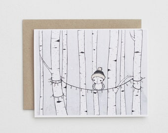 Birch Owl Card