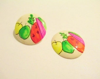 Vintage Neon Fruit Earrings DEADSTOCK