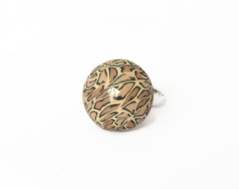 Leopard Ring - SALE - Statement Ring - Animal Ring - Leopard Print Jewellery - Chunky Ring - Big Ring - Gifts for Her - Gifts under 10