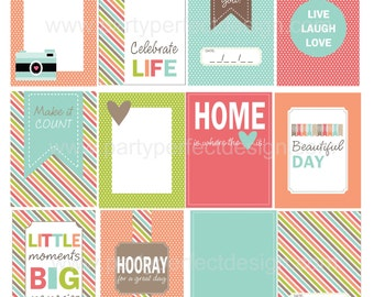 Everyday Life Journal cards. Perfect for Project Life. Instant Download