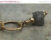 ON SALE 1.58 Carat White/Silver Rough Diamond Gemstone Necklace - April Birthstone