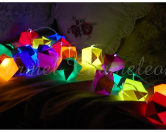 Origami Paper Lanterns ~Fairy/String Lights ~Party/Wedding decoration ~Christmas ~Nursery ~Home Decor