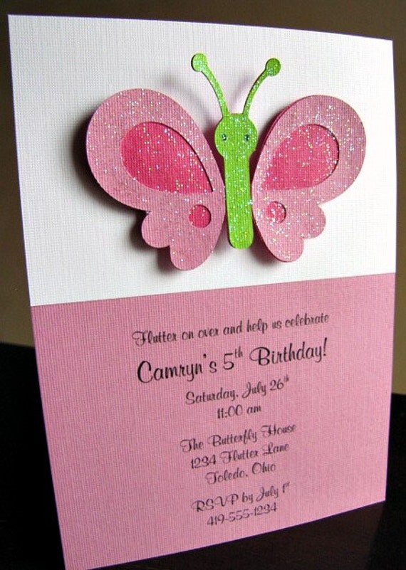 Butterfly Party Invitations Butterfly Party Invitations – Butterfly Party Invitation