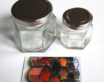 Single Small Empty Custom Magnetic Spice Jar (1/4 cup volume)