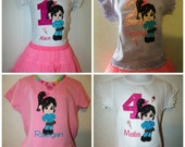 Wreck it Ralph Vanilla Sweet Vanellope Embroidered shirt or onesie or tank