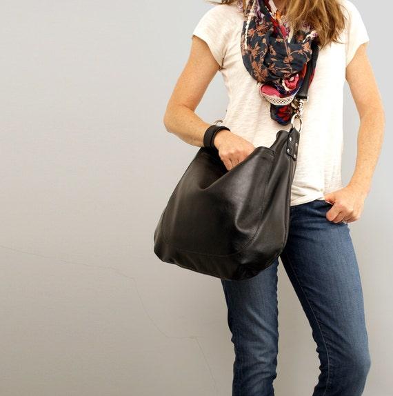 UMA Leather Bag Leather Hobo Bag Slouchy Leather Crossbody