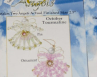 June, August, November, October, Birthstone Angels Ornament & Pin set * Bead kits ages 6+