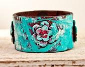 Black Friday Sale Jewelry Hippie Wristband Eco Friendly Cuff Turquoise Southwest Bracelet Holiday Art