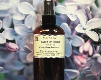 GARDEN MY FRENCH Lilac Room Fragrance Spray - Lilac Body Mist - Lilac Home Fragrance Spray